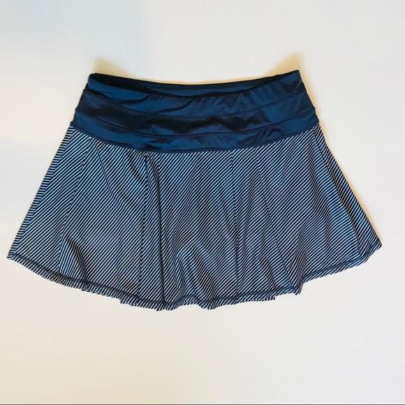 271ecec13c Kyodan Shorts | Navy Blue Striped Athletic Skirt | Poshmark